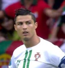 Ronaldo cristiano portugal euro 2012 denmark miss goal