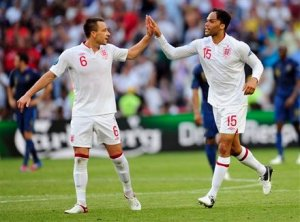 terry lescott celebrate goal england france euro 2012