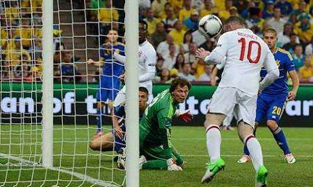 wayne rooney scores for england against ukraine euro 2012