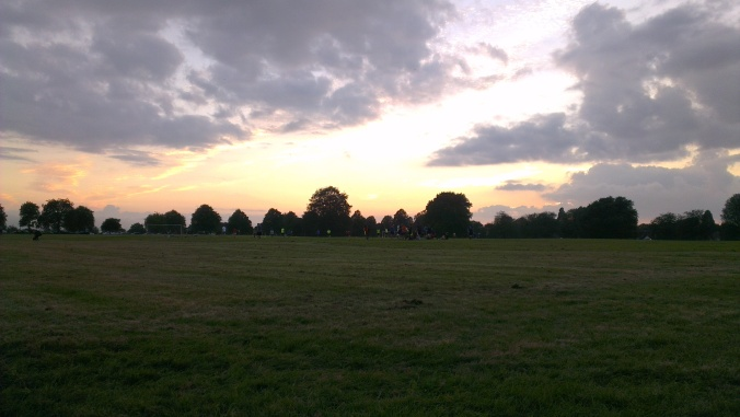 Bristol Downs League sunset football soccer evening beautiful