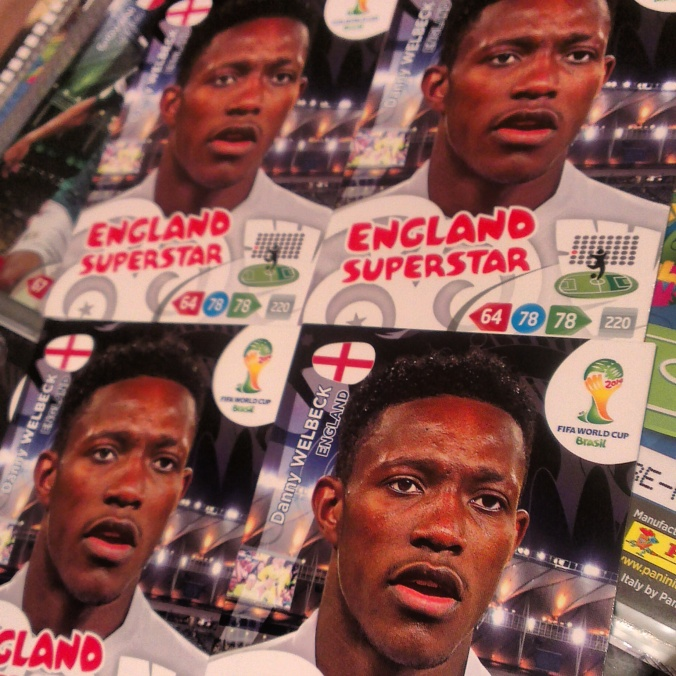 panini world cup brazil 2014 stickers cards album, danny welbeck england