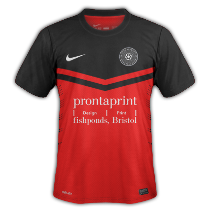Bristol Revolution home kit nike prontaprint bristol avon football league fishponds downend