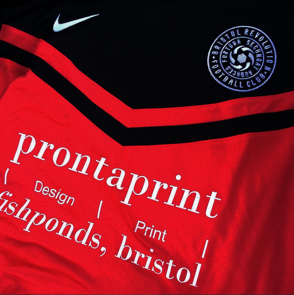 bristol revolution home kit closeup prontaprint nike fishponds downend football amateur